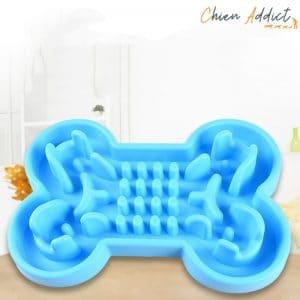 gamme anti glouton chien bleue forme os