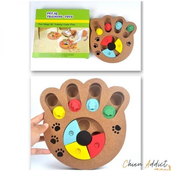 jeu d intelligence chien en bois