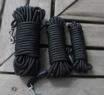 3 longes noires pour chien