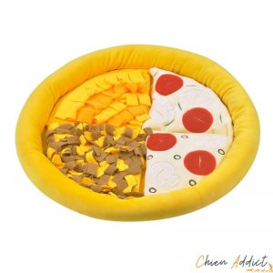 snuffle mat chien forme pizza