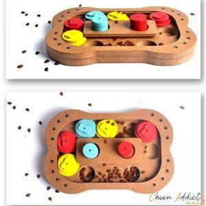 jeu intelligence chien en bois en 2 exemplaires