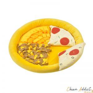tapis de fouille chiens forme Pizza