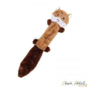 Peluche pour chien forme ecureuil