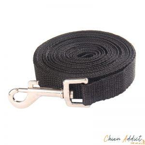 longe plate noire pour chien