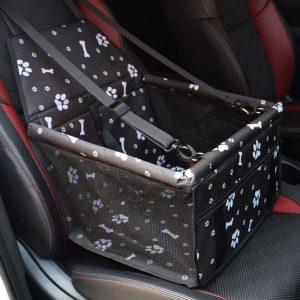 panier de transport chien noire