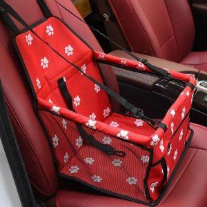 panier de transport pour petit chien rouge