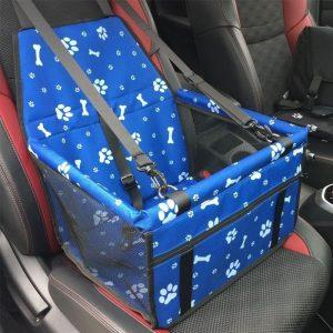 paniere de voyage pour petit chien bleue