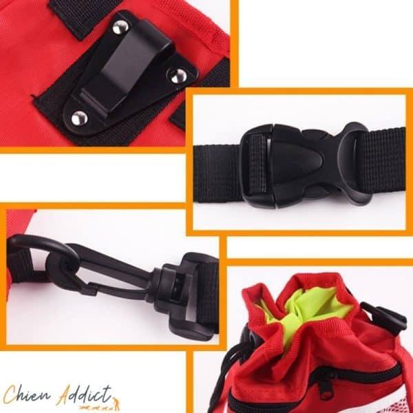 pochette friandises chien rouge